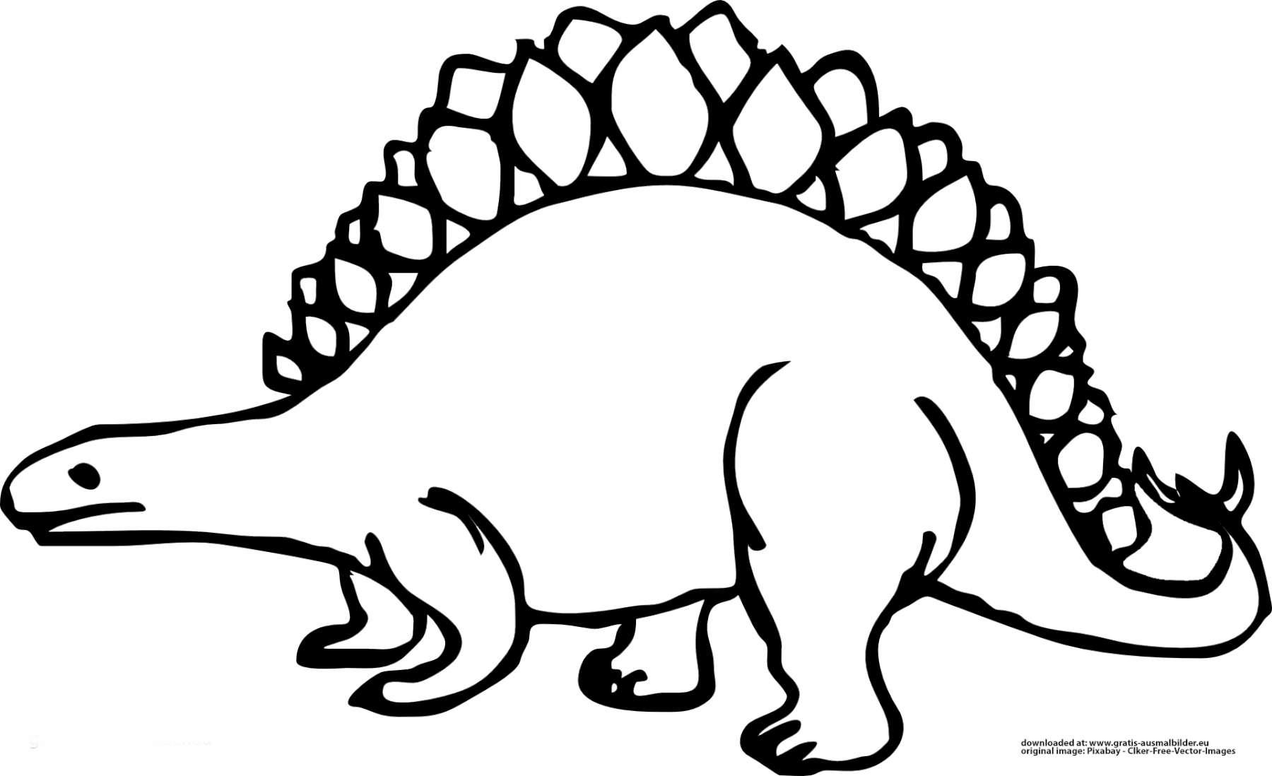 dinosaurier stegosaurus  gratis ausmalbild