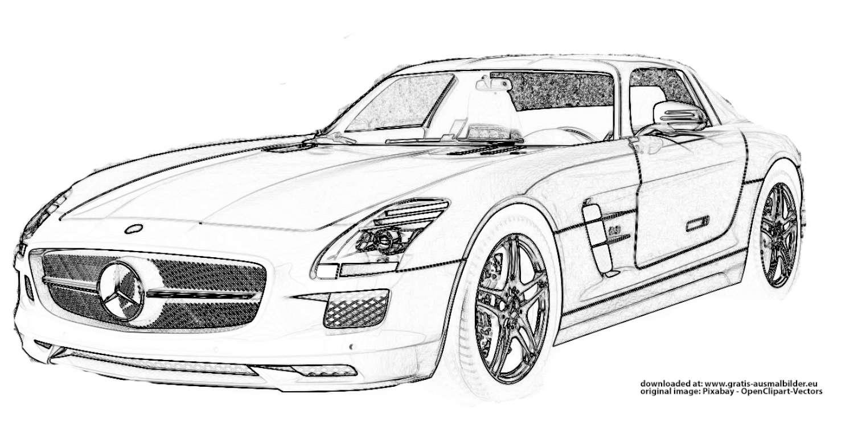 Mercedes - Gratis Ausmalbild