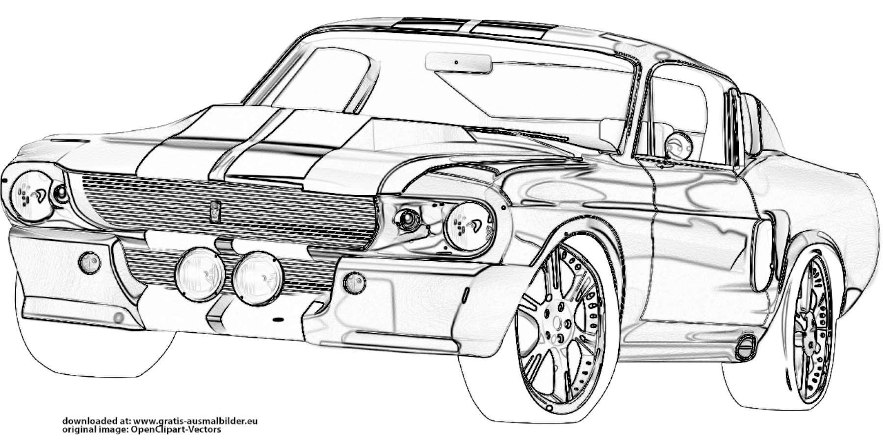 Ford Mustang Gratis Ausmalbild