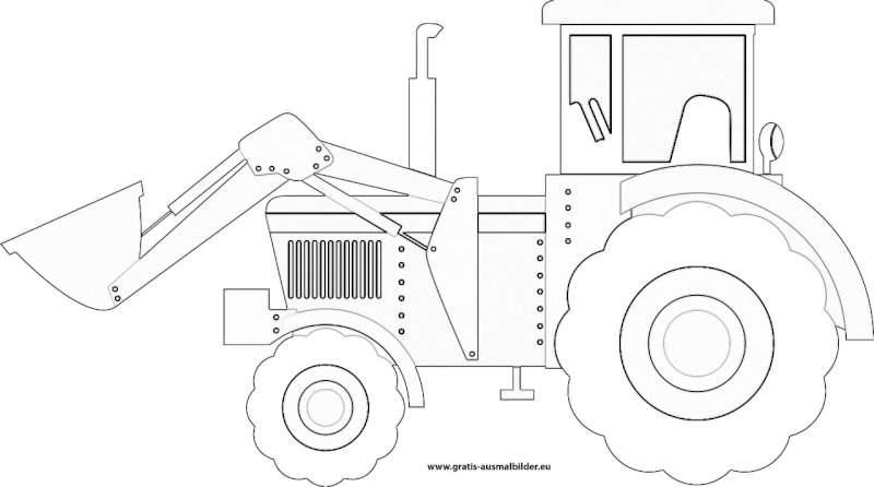gratis malvorlagen traktor  malvorlagen
