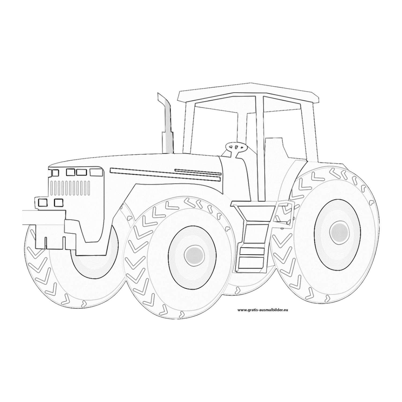 traktor - gratis ausmalbild