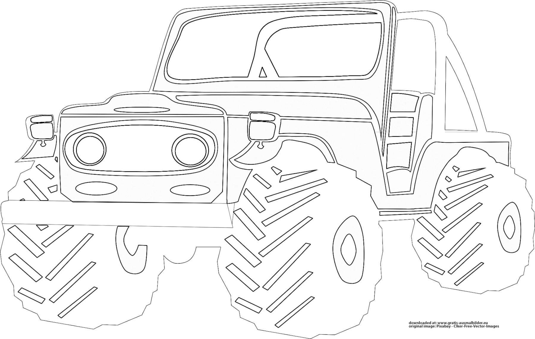 ▷ Jeep - Gratis Ausmalbild