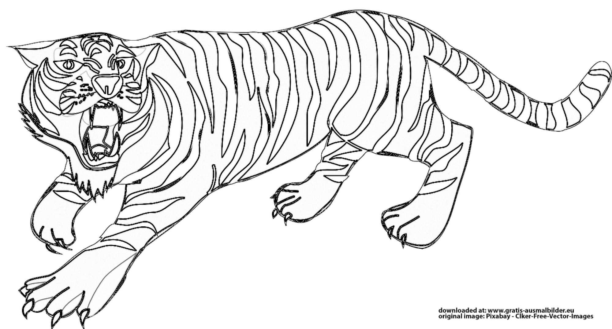 tiger  gratis ausmalbild