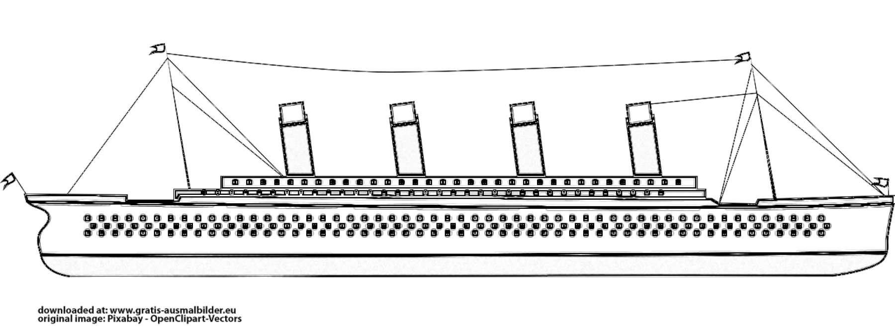 ▷ Titanic - Gratis Ausmalbild